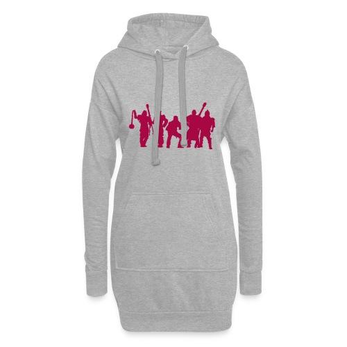 Jugger Schattenspieler rot - Hoodie-Kleid