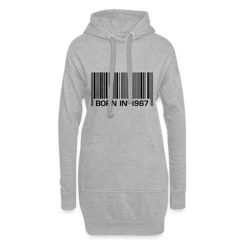 born in 1967 50th birthday 50. Geburtstag barcode - Hoodie Dress