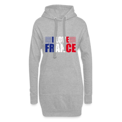 love france - Sweat-shirt à capuche long Femme