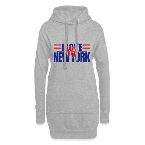love new york - Sweat-shirt à capuche long Femme