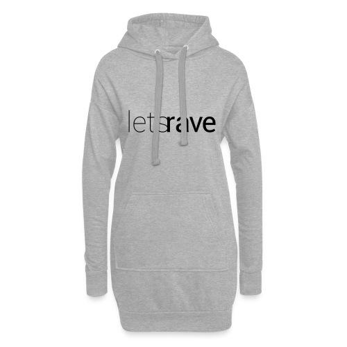 letsrave - Hoodie-Kleid