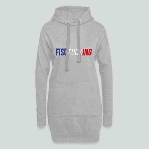 Je suis une victime du FISCfucking... - Sweat-shirt à capuche long Femme