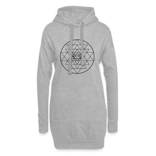 Sri Yantra - black and white - Hoodie-kjole