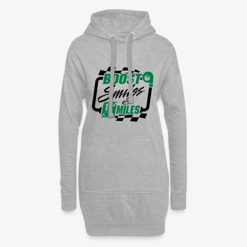 Boost Smiles & Quarter Miles Green & Black Print - Hoodie Dress