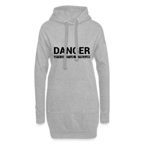 DANGER_antivirus_inside - Hoodie Dress