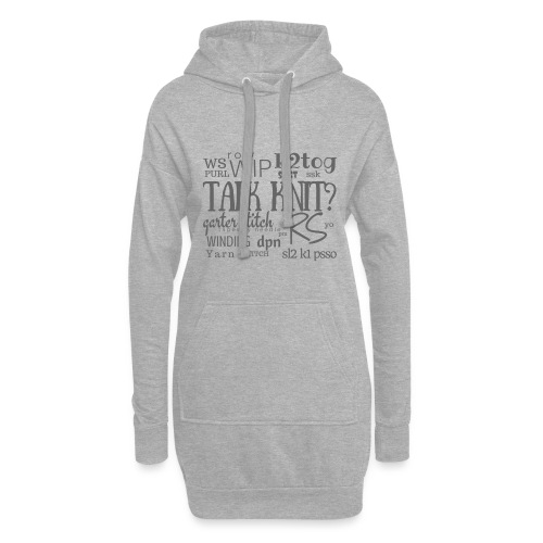 Talk Knit ?, gray - Hoodie Dress