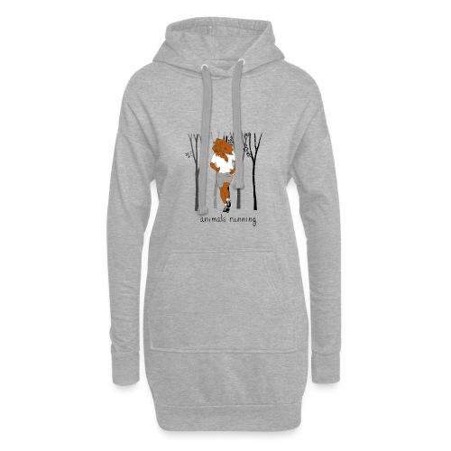 Lion running - Sweat-shirt à capuche long Femme
