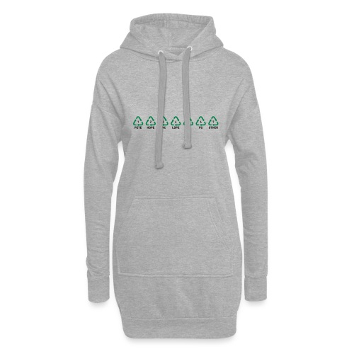 Recyclable Resin Identification Codes (RIC). - Hoodie Dress