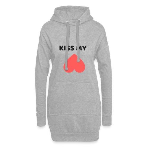 Kiss My Ass - Długa bluza z kapturem