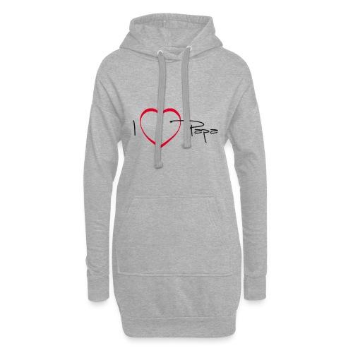 I love papa - 15 graph - Sweat-shirt à capuche long Femme