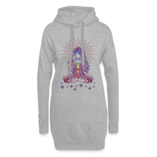 Boho Yoga Style Mädel Happy Mind Happy Life - Hoodie-Kleid