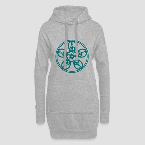 Treble Clef Mandala (teal) - Hoodie Dress
