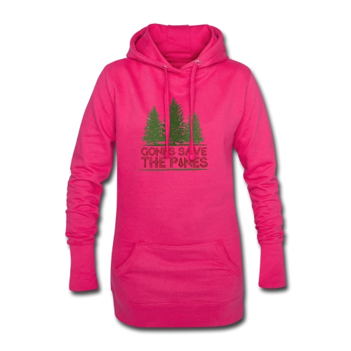 Gones save the pines - Sweat-shirt à capuche long Femme