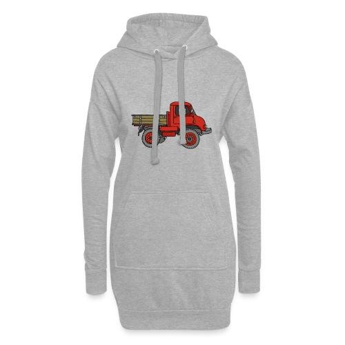 Roter Lastwagen, LKW, Laster - Hoodie-Kleid