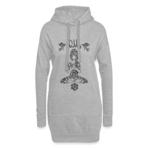 Hippiegirl Yoga Design Motiv Boho Style - Hoodie-Kleid