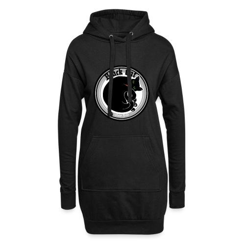 Black Cat - Hoodie-Kleid
