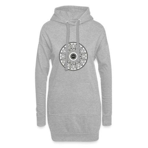 Mandala mit Schriftzug Love - Hoodie-Kleid