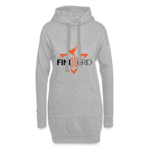 FinixGrid Orange - Hoodie Dress