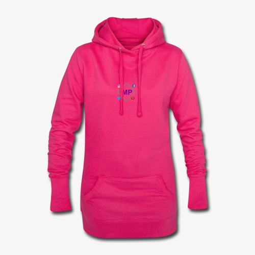 MP logo with social media icons - Hoodie Dress