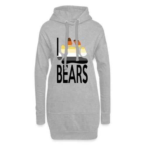 I love bears - Sweat-shirt à capuche long Femme