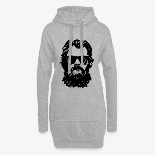 beardface - Hoodie-Kleid