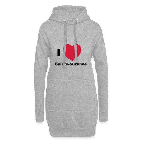 i love sainte suzanne - Sweat-shirt à capuche long Femme