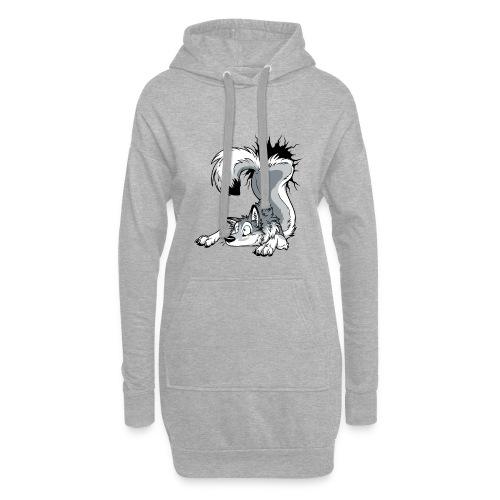 UN-STUCK Husky Grey / Grau - Hoodie-Kleid