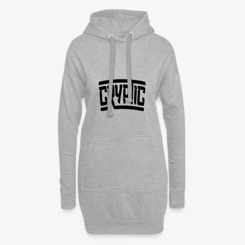 Cryptic (any colour but black) - Hoodie Dress
