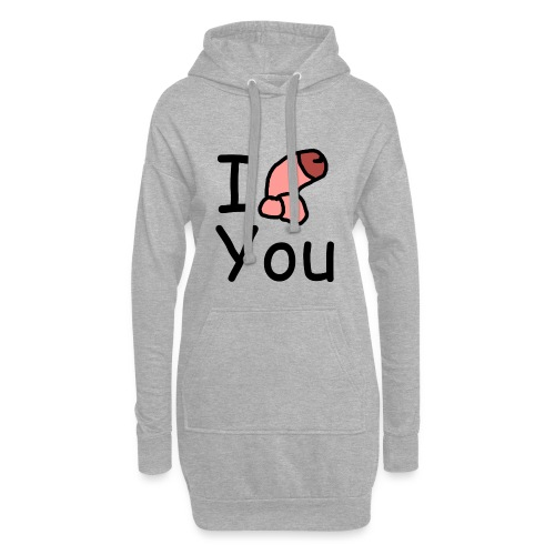 I dong you cup - Hoodie Dress