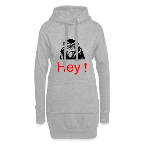hey! monkey - Sweat-shirt à capuche long Femme