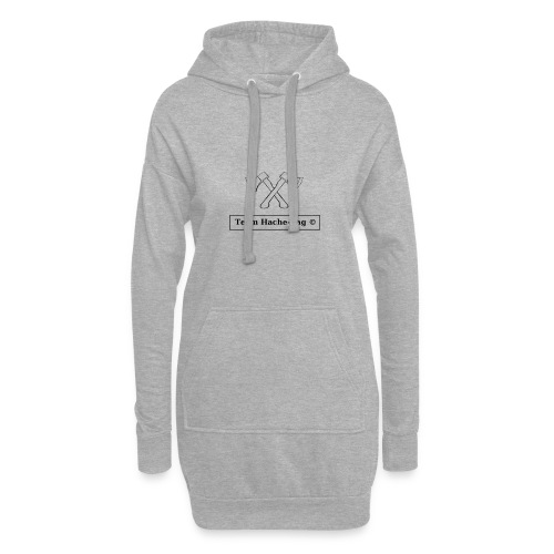 Logo Team Hache-Tag - Sweat-shirt à capuche long Femme