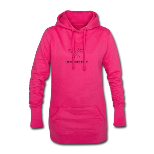 Logo Team Hache-Tag - Sweat-shirt à capuche long Femme
