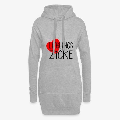 LieblingsZicke Geschenkidee Valentinstag - Hoodie-Kleid