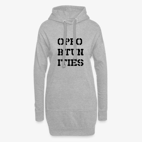 Opportunities - Gelegenheiten - schwarz - Hoodie-Kleid