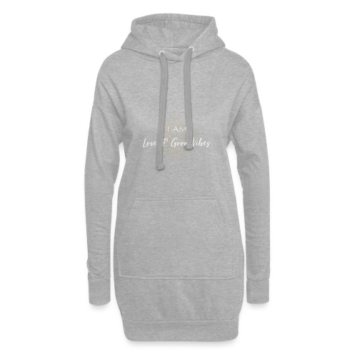 I am love and good vibes white gold - Hoodie-Kleid