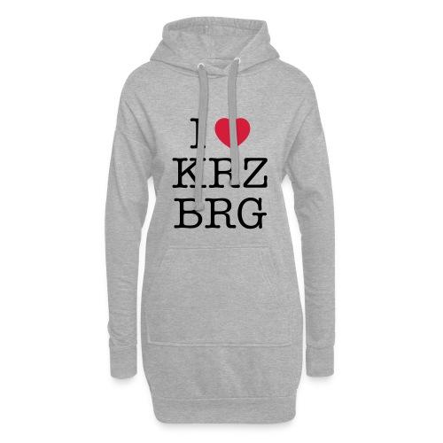 I love KRZBRG - Hoodie-Kleid