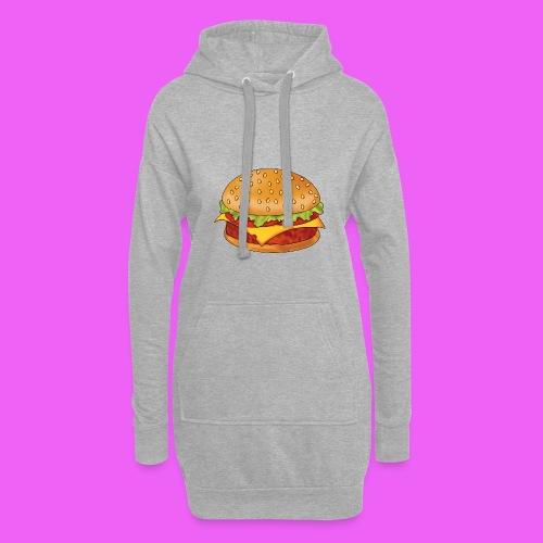 hamburguesa - Sudadera vestido con capucha