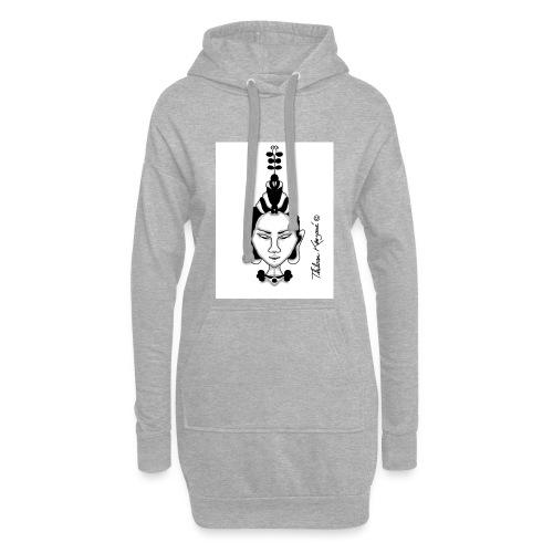 YogaZen - Sweat-shirt à capuche long Femme