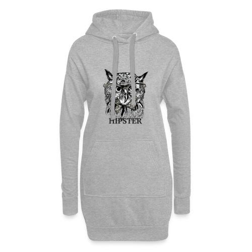 Hibou Hipster - Sweat-shirt à capuche long Femme