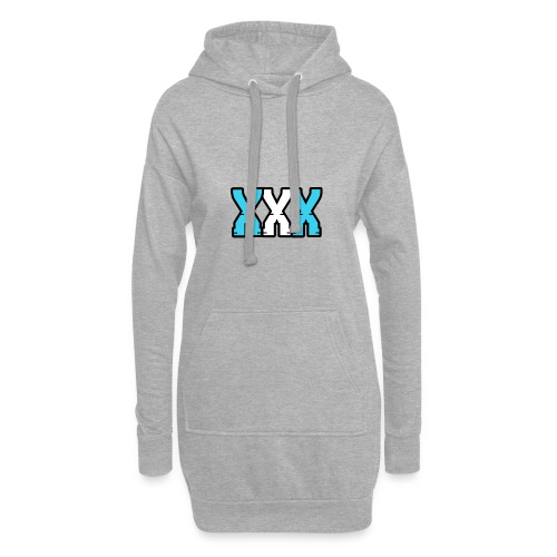 XXX (Blue + White) - Hoodie Dress