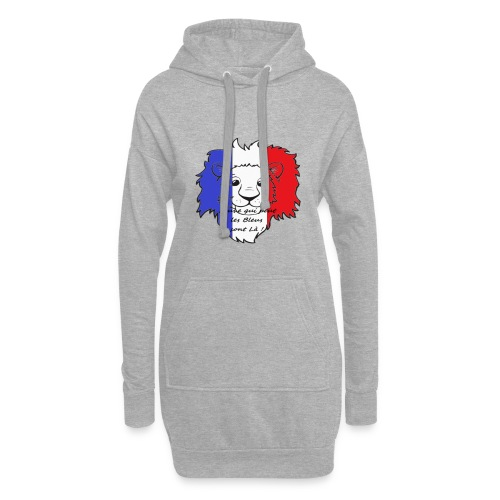 Lion supporter France - Sweat-shirt à capuche long Femme