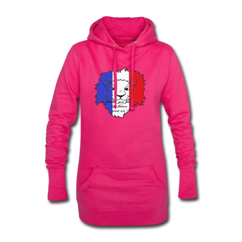 Lion supporter France - Sweat-shirt à capuche long Femme