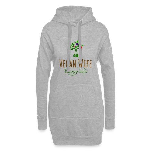 VEGAN WIFE - Sweat-shirt à capuche long Femme