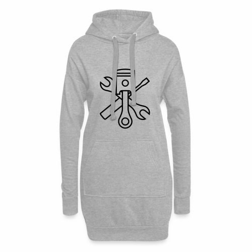 Pistons and tools 1c (+ your text) - Hoodie Dress