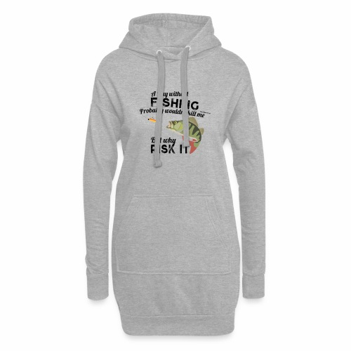 A Day without Fishing Angeln Fishyworm Bass Barsch - Hoodie-Kleid