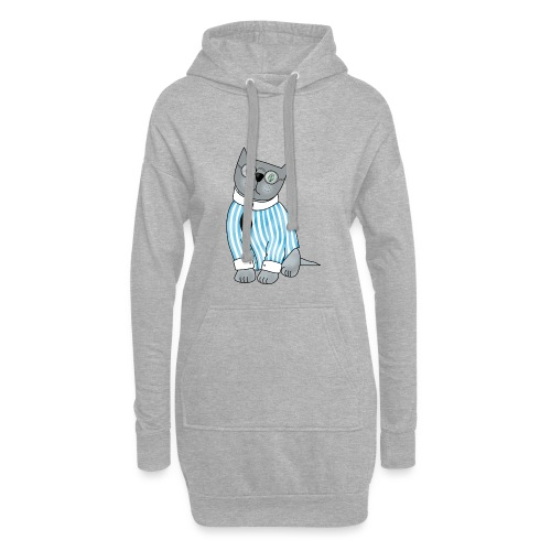 Cat with glasses - Hoodie Dress