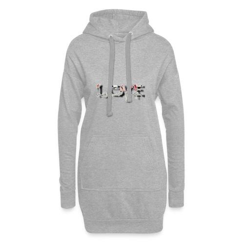 LOVE - Sweat-shirt à capuche long Femme