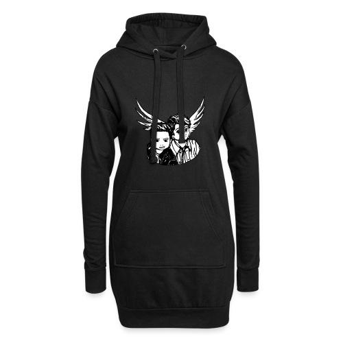Destiel i sort/hvid - Hoodie-kjole