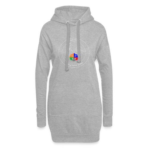 T Shirt Logo weiss trans ohne rand - Hoodie-Kleid