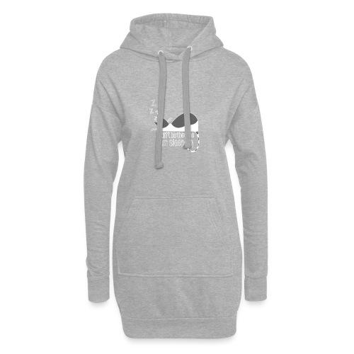 Sleeping cat gray white - Hoodie Dress